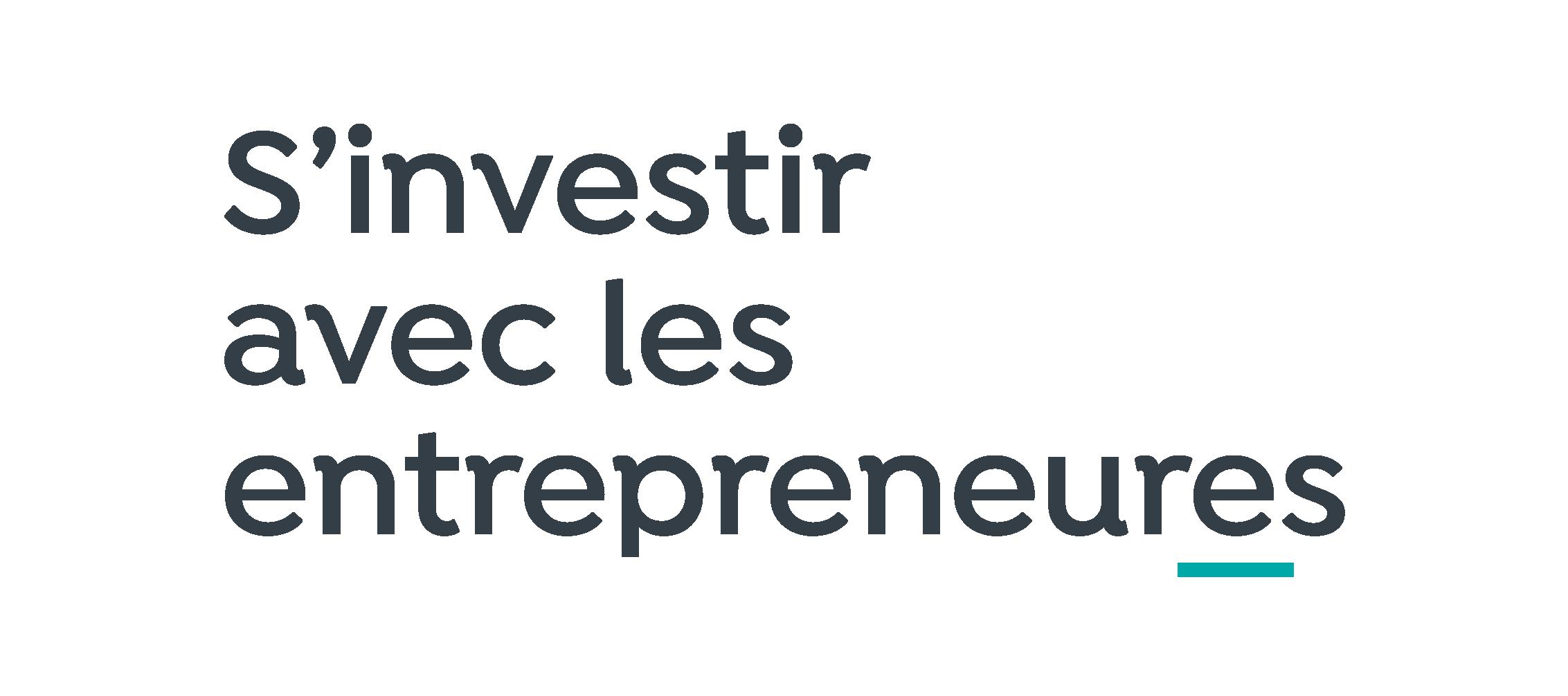 Logo Slogan S Investir Avec Entrepreneures